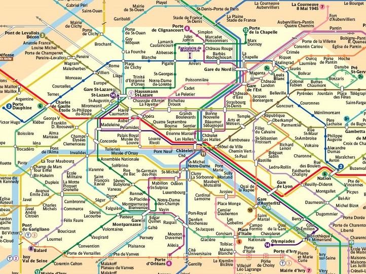 パリの地下鉄メトロ乗り方ガイド...