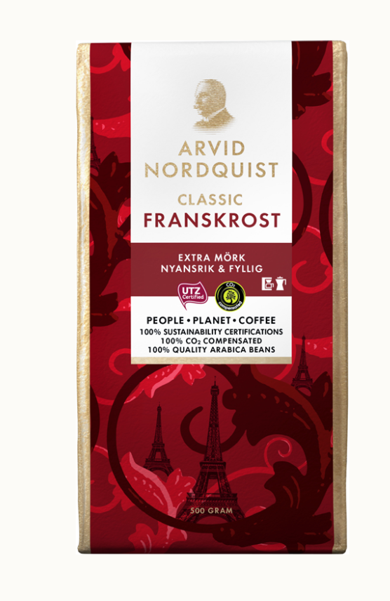 アルビッド ノードクビスト社のフレンチローストコーヒー(挽き)500g   ストックホルム在住ストックホルムさんのおすすめお土産