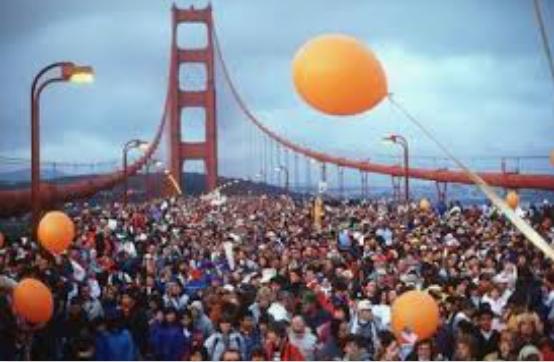 冷たい風の吹くサンフランシスコのゴールデンゲートブリッジを寒さにふるえながら歩く   サンフランシスコ在住嶋裕子さんのおすすめお土産