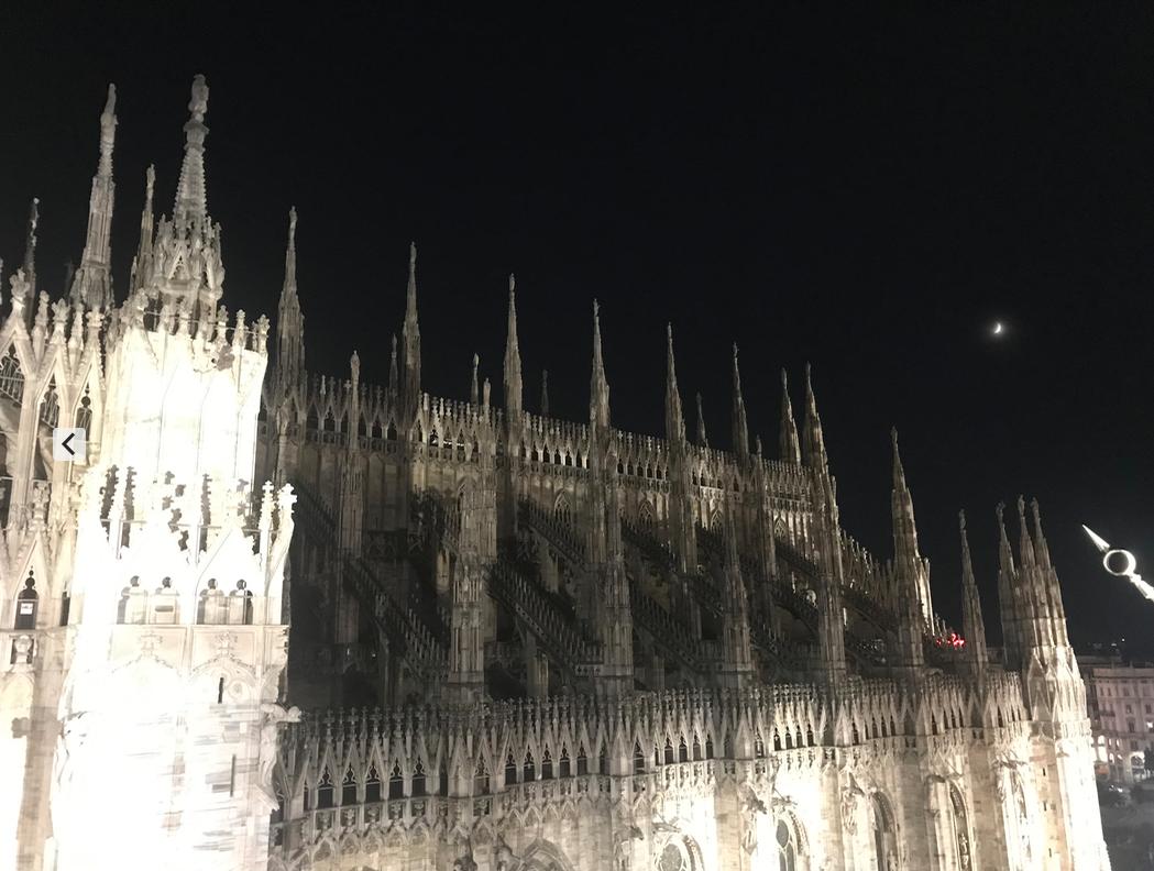 ミラノの大聖堂の夜景 リナシェンテデパート屋上   ミラノ在住Milano_freeさんのおすすめ夜景スポット